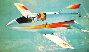 Richard Bach en su aeroplano.
