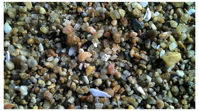 rocky sand